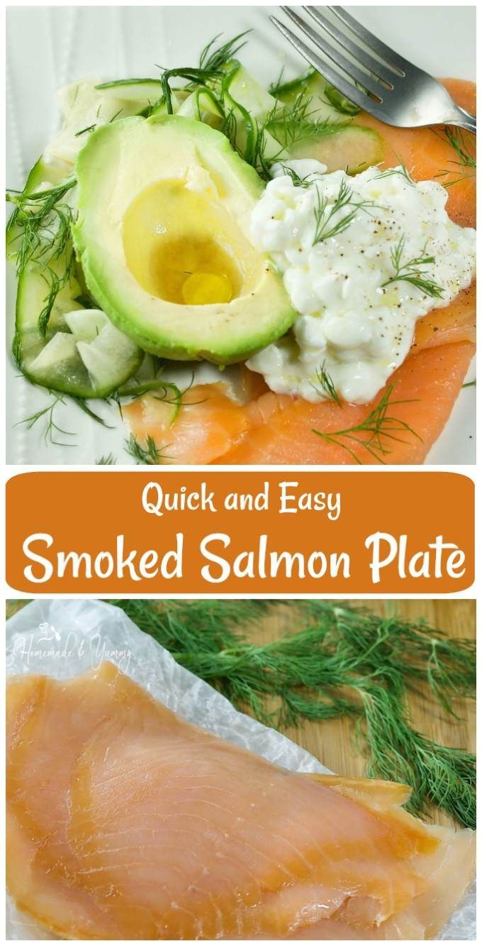 Quick and Easy Smoked Salmon Plate is a fast & delicious meal from Jamie Oliver's book 5 Ingredients Quick and Easy Foods. #jamieoliver #smokedsalmon #quickandeasy   homemadeandyummy.com