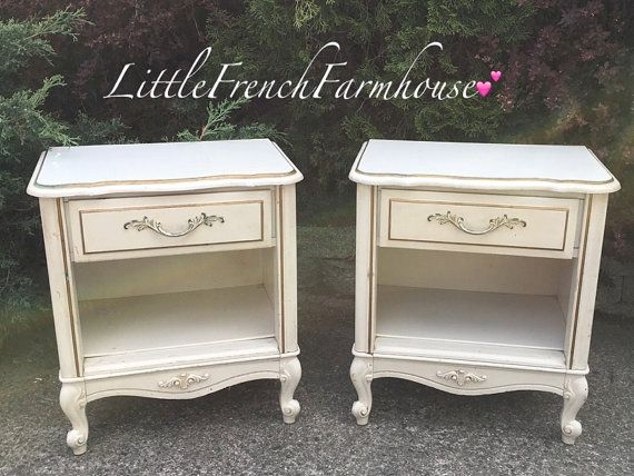 CUSTOMIZE ME Pair French Provincial Night by MyLilFrenchFarmhouse