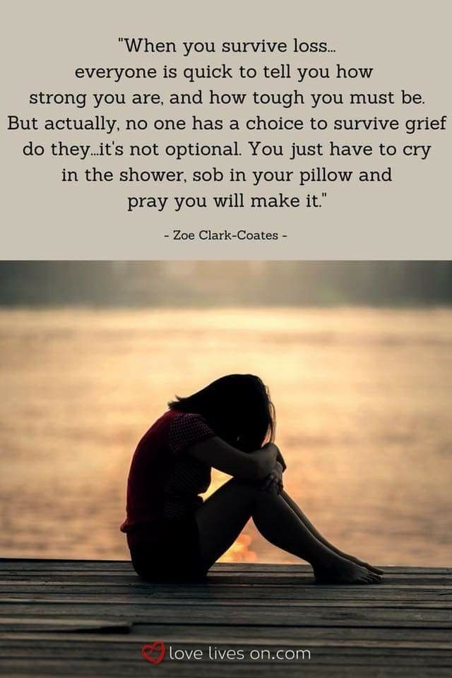 Surviving grief ... no choice! Survival is one day, one hour, one minute, one second at a time.