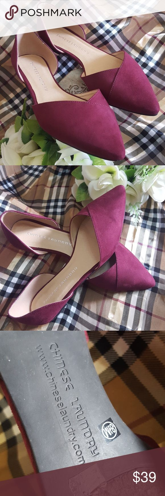 CHINESE LAUNDRY FLAT SIZE 8 1/2 Excellent condition worn once BURGUNDY Chinese Laundry Shoes Flats & Loafers