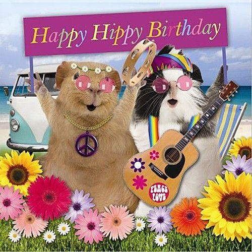 Шарики, морская свинка открытка с днем рождения