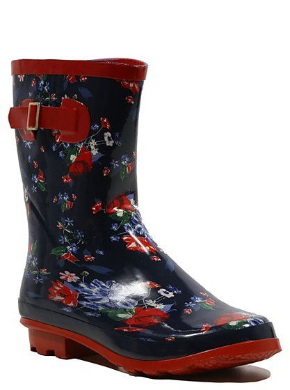 Floral Wellington Boots, George Asda