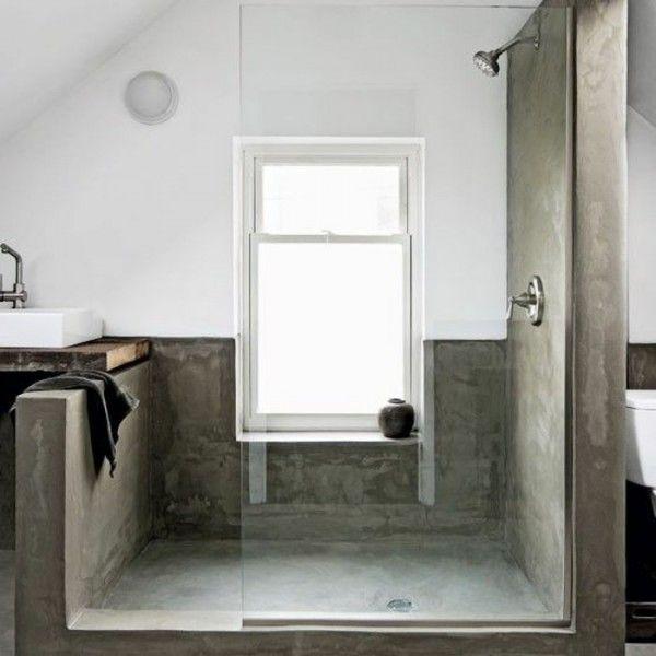 Am nagement petite salle de bain 34 id es copier salle de bain en b t - Amenagement petite sdb ...