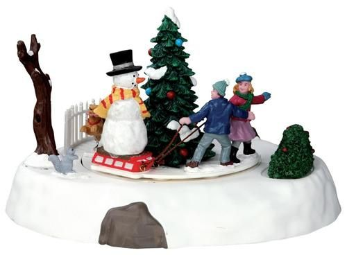 Lemax Vail Village One Of The Gang Animated Christmas Table Accent #54921