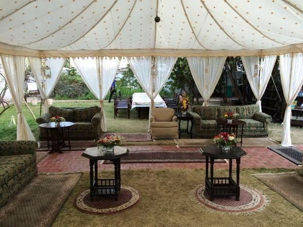 Maharaja Tent, high class ambiance and luxury under one roof.