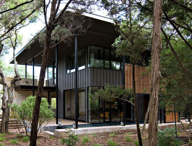 House in Trees by Cuppett Architecture