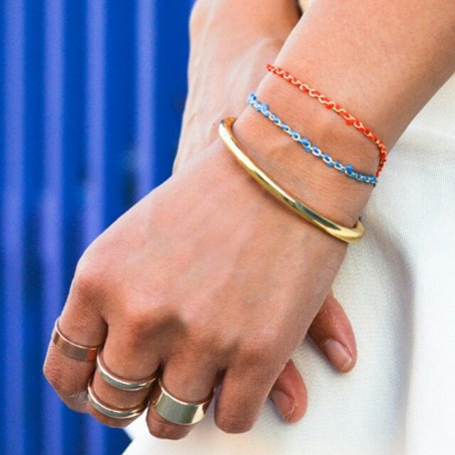 #madisontale bracelets with chain + floss ♡