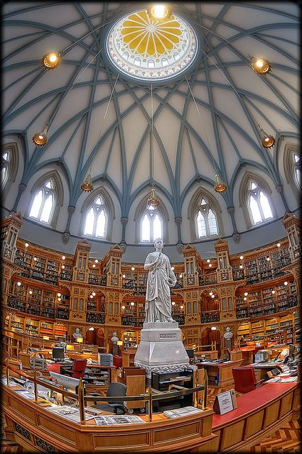 The Library of Parliament on Parliament Hill in Ottawa, Canadas capital city.  http://awesome-canada.com/ #Ottawa #Canada