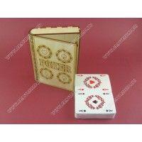 Fa kártyatartó - Póker szett