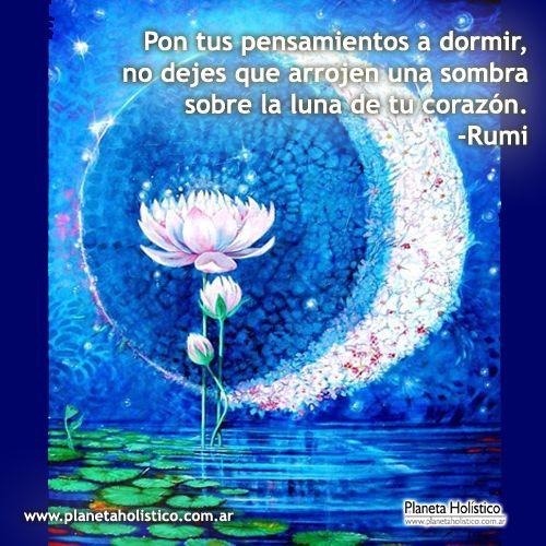 Frase de Rumi - Pon tus pensamientos a dormir
