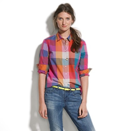 Checklist Ex-Boyfriend Shirt $70: Shirts Tops, Checklist Exboyfriend, Checklist Ex Boyfriends, Boyfriends Clothing, Work Outfits, Madewell Checklist, Exboyfriend Shirts, Bright Plaid, Ex Boyfriends Shirts