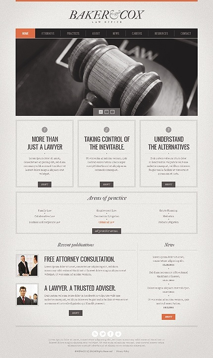 website. Good areas to put all the details in.