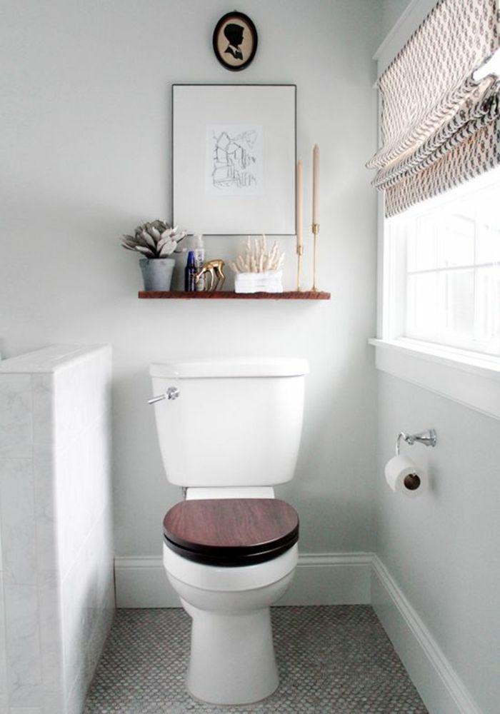 Holzakzente Fenster Faltrollo Im Gäste WC