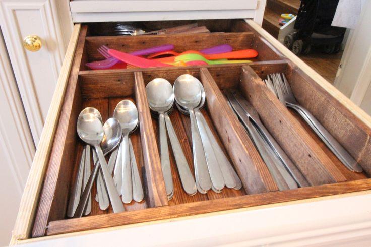 Besticklåda Bygg en egen besticklåda  cutlery tray. Build your own cutlery drawer