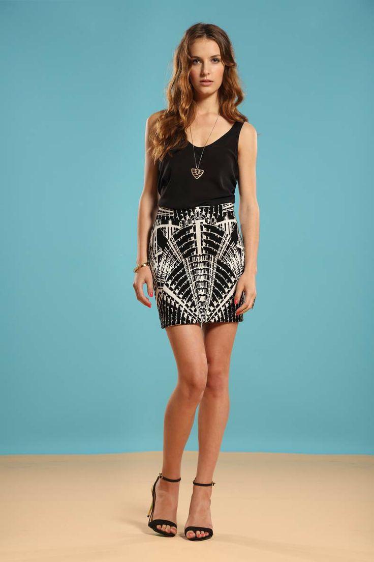 Left on Houston Carolina skirt