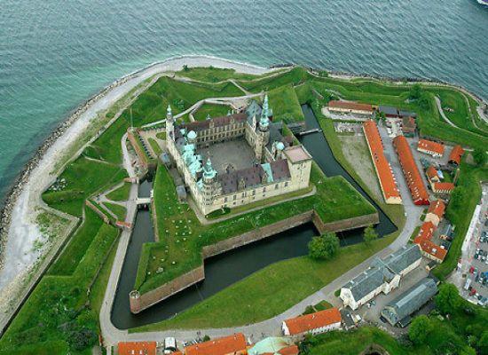 "Denmark's Kronborg Castle is located near the town of Helsingør, better known as ""Elsinore,"" the setting for Shakespeare's ""Hamlet."""