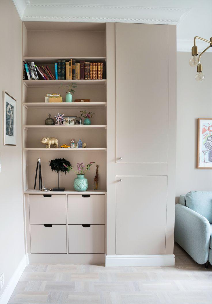Built in shelf, homeoffice, storage, guestroom, jotun, soft skin