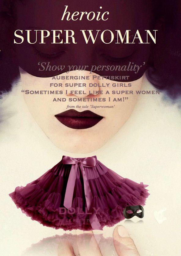 Dolly Greece - Petti Skirt 'Super Woman' Woman by Le Petit Tom, €72.00 (http://www.dollygreece.com/petti-skirt-super-woman-woman-by-le-petit-tom/)