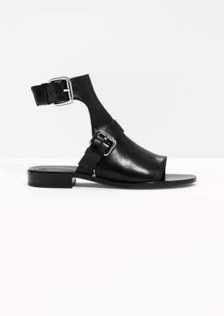 & Other Stories | Buckled Leather Low-Heel Sandals