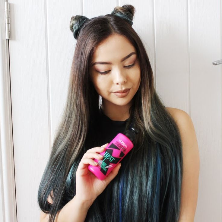 Preen.Me VIP Jen Lou keeps her hair polished and heat protected using her gifted L'Oreal Paris Studio Pro HEAT IT Hot & Sleek Styling Heat Cream. #WhoDoYouWantToBeToday? Design long-lasting hairstyles by clicking through.