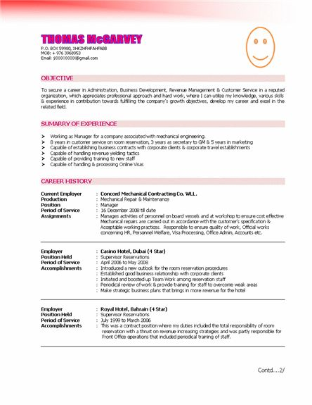 21 best CV images on Pinterest Sample resume, Resume and Resume - helicopter pilot resume