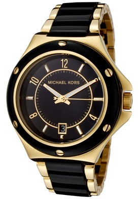 Black and gold. Another classic from Michael Kors. The over-size face is very Annie Hall. Chic!