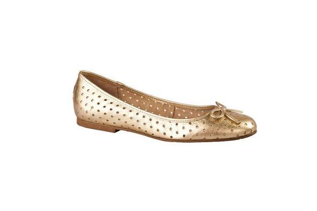 #Ballerinas amadas en #dorado #doré #cuero @zapatosgacel #Zapatos #ZapatosGacel #Gacel