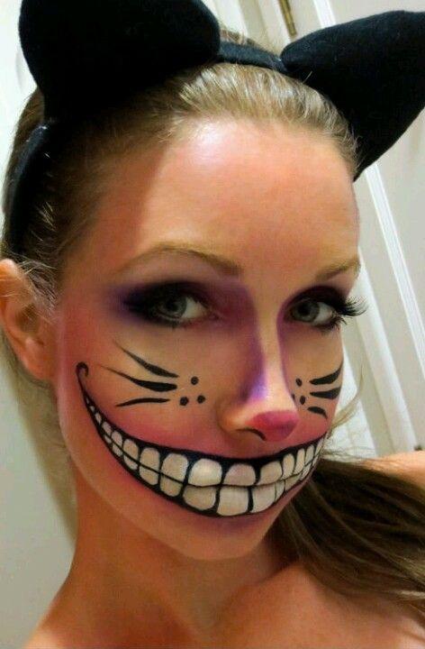 Cheshire cat face paint!