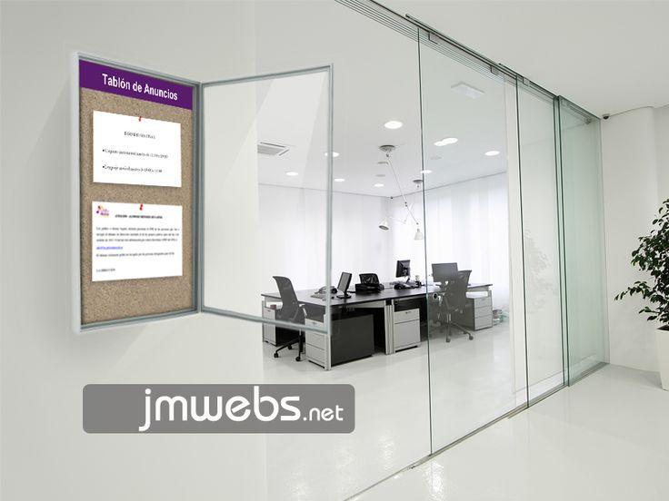 Tablón de Información y Anuncios. Diferentes modelos y medidas. Precios en: www.jmwebs.net o Teléfono 935160047