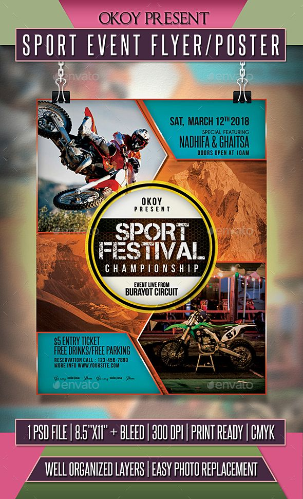 sport event flyer    poster template psd