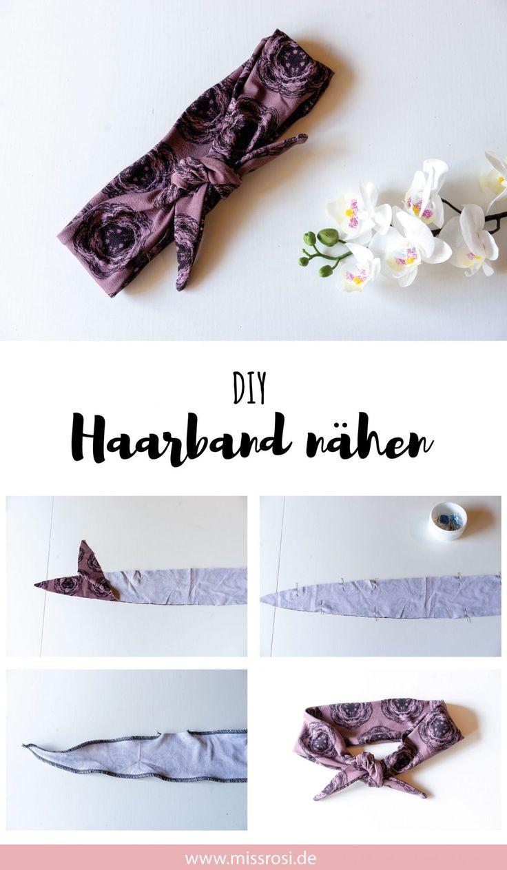 Haarband nähen, einfache Anleitung für Anfänger