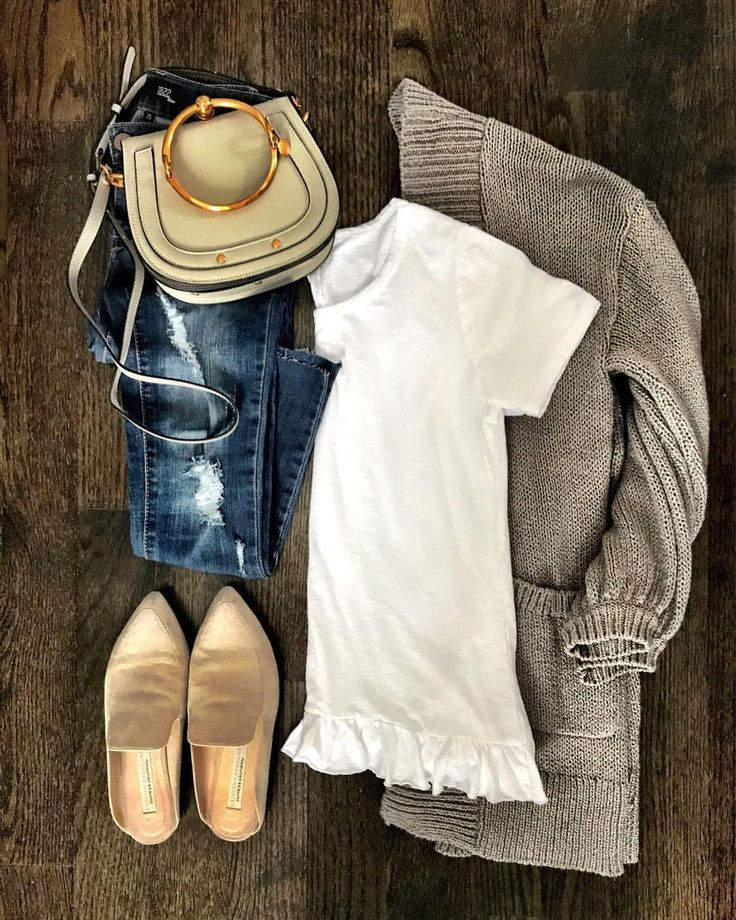 cute fall outfit with mules