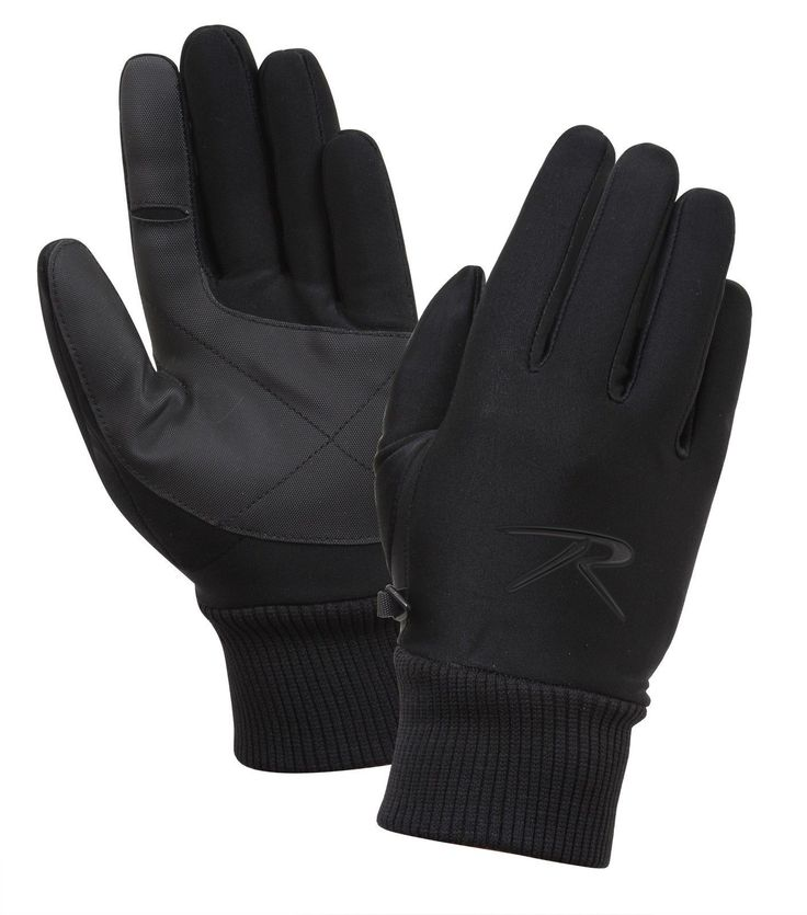 Military Waterproof Lined Four Way Stretch Black Glove
