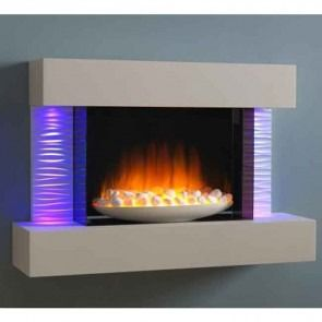 Flamerite Luma 900 Wall Mounted Electric Fire Suite with Bowl