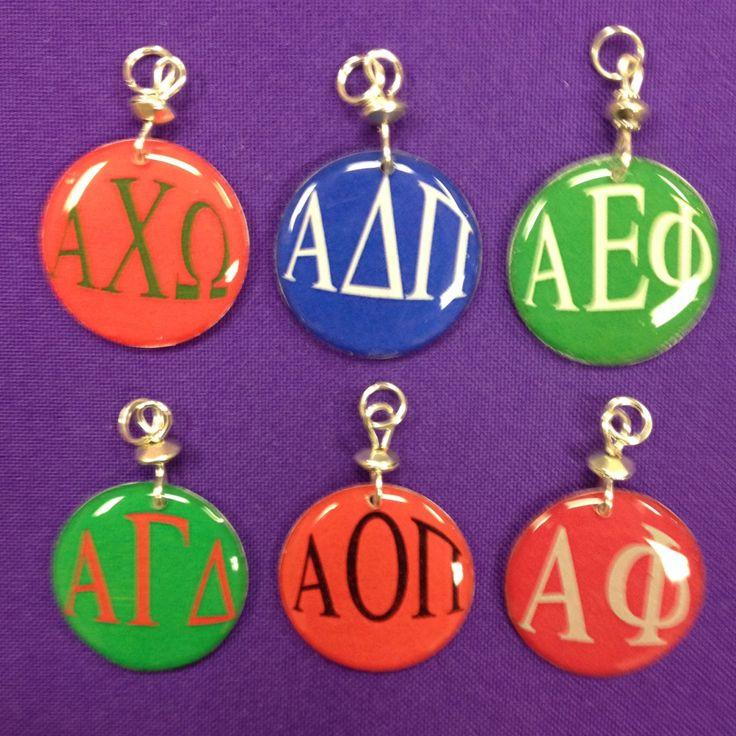 Sorority Greek Letter Charms - Alpha Chi Omega, Alpha Gamma Delta, Alpha Xi Delta, Alpha Delta Pi , Alpha Epsilon Pi, Alpha Phi by AnnPedenJewelry on Etsy