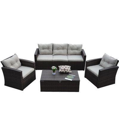 4-Piece Rio Patio Seating Group | Joss & Main