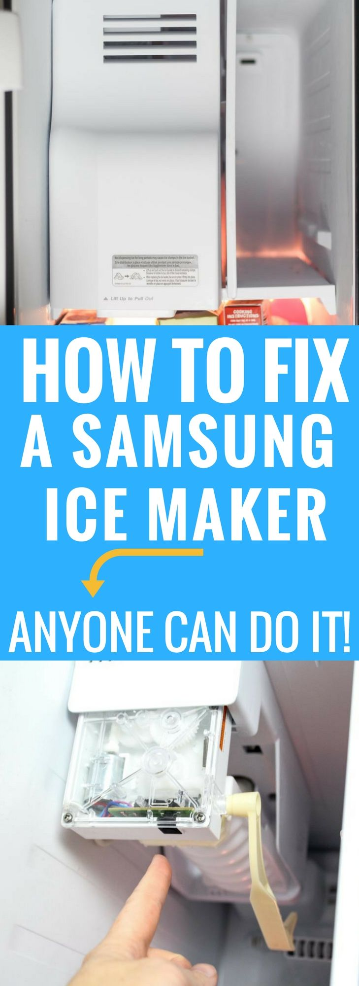 How to Fix a Samsung Ice Maker and save up to $250 in repair cost!