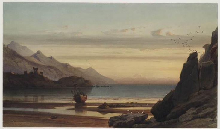#Schotland, land v bergen en schilderachtige kusten. De Franse schilder Francia legde de rustieke schoonheid vast.