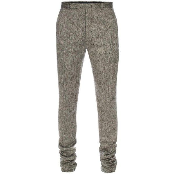 Paul Smith Men's Slim-Fit Grey Marl Linen-Silk Trousers ($570) ❤ liked on Polyvore featuring men's fashion, men's clothing, men's pants, men's casual pants, men, pants, mens grey linen pants, mens gray dress pants, mens slim pants and mens silk pants