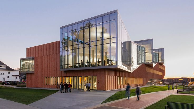 American studio Weiss Manfredi has used glass, brick and concrete to form a new home for the architectural and environmental design programs at Kent State University in Ohio.