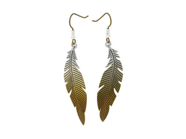 Large Curved Feather Titanium Earrings, 100% Hypoallergenic, Sensitive ear / Grande boucles d'oreille plume en titane pur - 100% Hypoallergène
