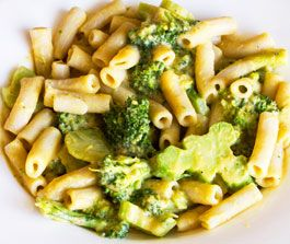 Penne & Broccoli with Creamy Chickpea Sauce recipe