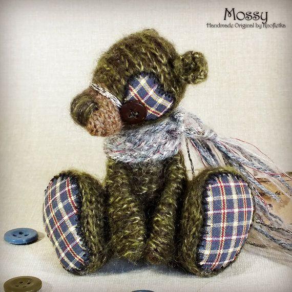 Mossy - Original Handmade Little Teddy/Bear/Collectable/Gift/Charm