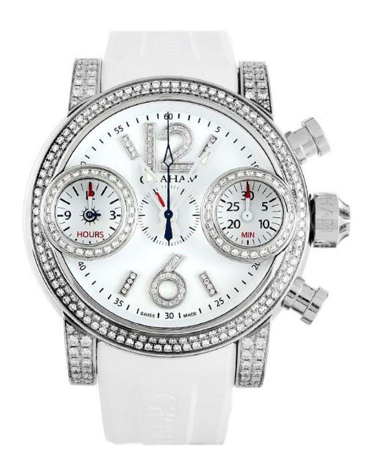 Graham 2SWFS W02A Swordfish Jewellery Snow White- швейцарские женские наручные часы  - стальные с бриллиантами, белые