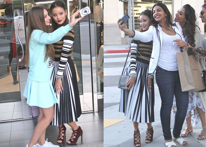 Jamie Chung Is the New Face of Make Up For Ever Alongside Transgender Model Andreja Pejic, Poses With Fans at Their Tour in Topshop Heels