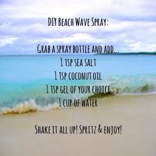 DIY beach hair article.   http://rachaelleestroud.wordpress.com/2013/06/19/diy-beach-hair/