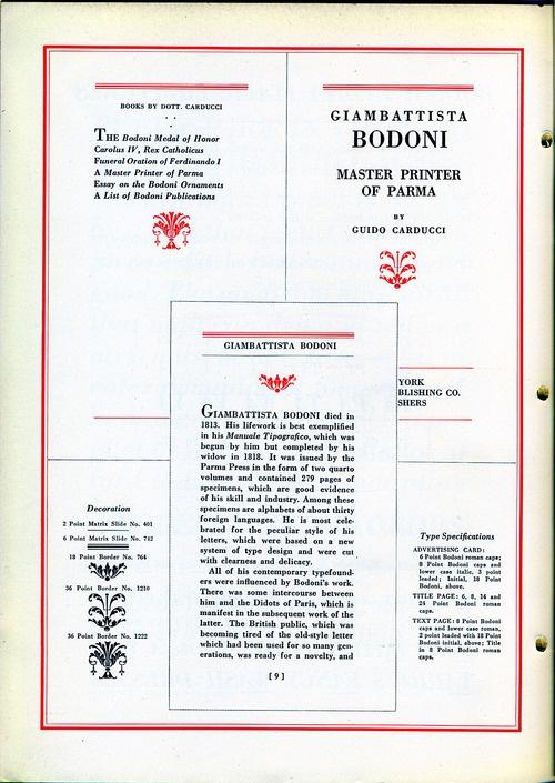 Specimen dei caratteri Bodoni ad opera di Linotype.  Daily Type Specimen è un blog su Tumblr che ogni giorno propone un diverso specimen tipografico.Questa volta non è un lavoro di stampa tipografica questa, ma senza caratteri che tipografia ci sarebbe? Nessuna :) Qui poi stiamo parlando di chi della tipografia, italiana ma non solo, ha fatto la storia: Giambattista Bodoni(Saluzzo, 16 febbraio 1740 – Parma, 29 novembre 1813) di cui il prossimo anno ricorre il 200esimo dalla morte.