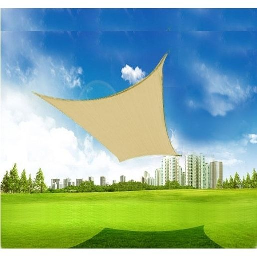 Outsunny 20' x 16' Recgle Outdoor Patio Sun Shade Sail Canopy, #100110-037SA