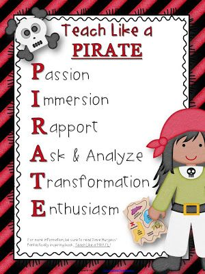 3rd Grade Thoughts: What I'm Reading Wednesday: Teach Like a PIRATE + Freebies & Giveaway!