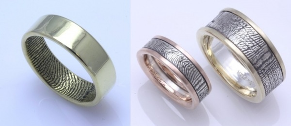 #Wedding band #rings with fingerprints - oh so #romantic